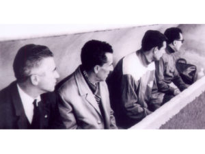 Banquillo del Betis en Elche el 7 de marzo de 1965, cuatro días después falleció el técnico Andrés Aranda.