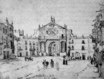 El hispanista británico Richard Ford nos legó este dibujo de la Puerta de Triana