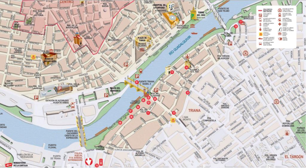 Mapa Triana turismo - www.visitasevilla.es