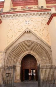 Iglesia Santa Ana, Triana, exterior. Portada evangelio