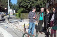 El Ayuntamiento ejecuta una veintena de obras de mejoras de calles, parques y colegios en  el Distrito Triana