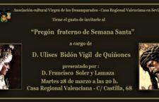 """""""Pregón Fraterno de Semana Santa"""""""