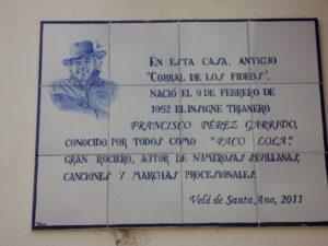 Azulejo, calle castilla, Triana,