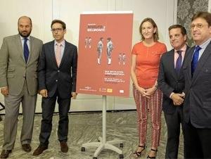 Un momento de la presentación de la exposición Joselito y Belmonte
