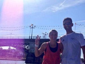 dos olimpicos en la acuatlon