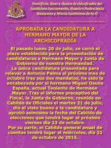 Candidatura julio 2015