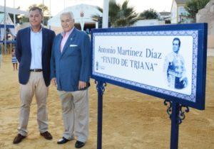 El alcalde de Tomares inaugurando la calle de Finito de Triana_web_1