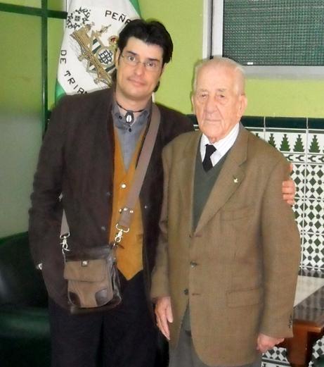 Jorge Benítez y Alfonso Jaramillo en la  Peña Bética de Triana. Foto JBG