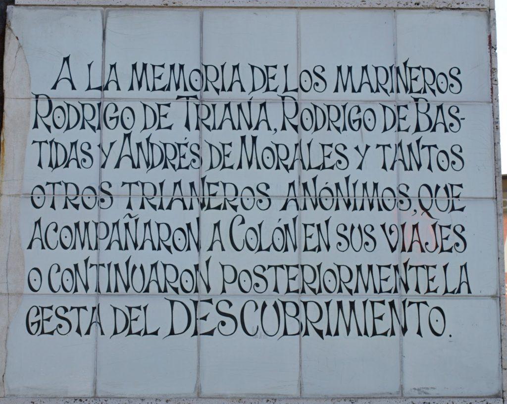 Colón y los marineros de Triana.texto