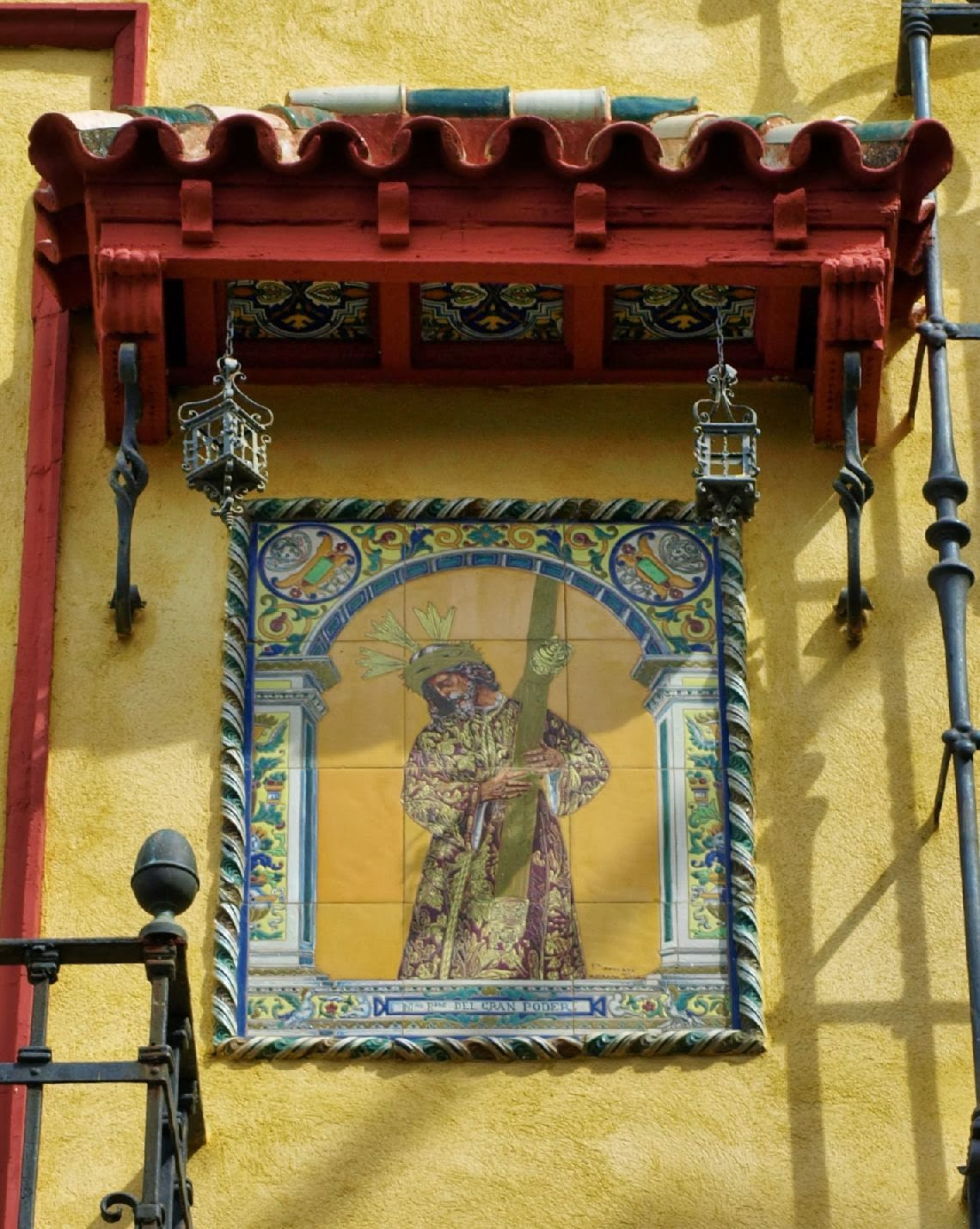 Retablo cerámico Jesus del Gran Poder, plaza de la Alianza_Sevilla