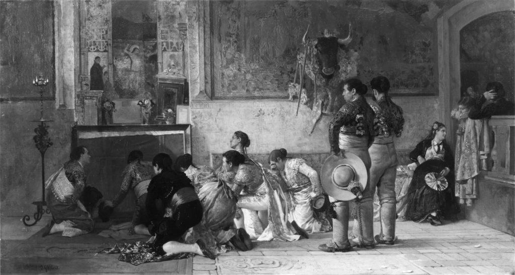 Jehan_Georges_Vibert_-_Toreros_at_Prayer_before_entering_the_Arena_-_Walters_37197