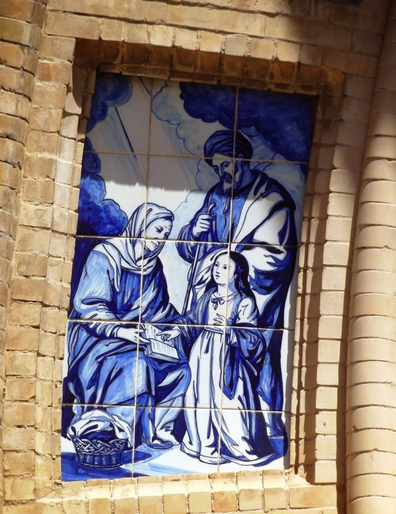 San Joaquín y Santa Ana y la Virgen María