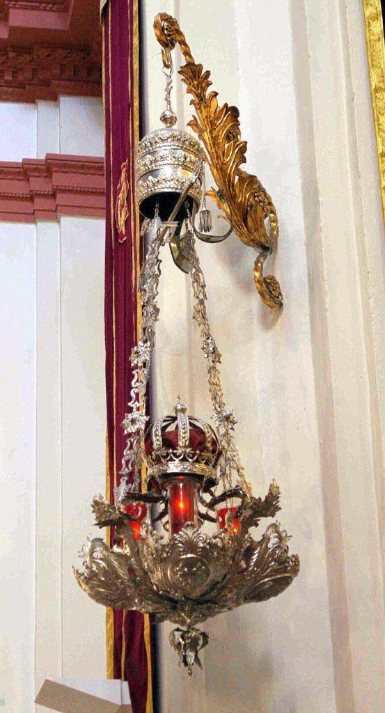 Presbiterio-Lámpara plata