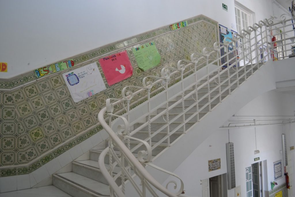 Detalle de la barandilla de la escalera.