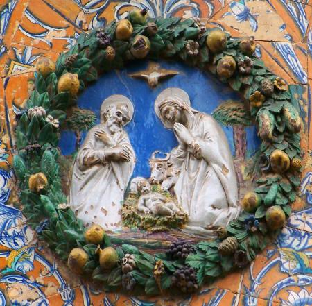 La Natividad. En la cartela central
