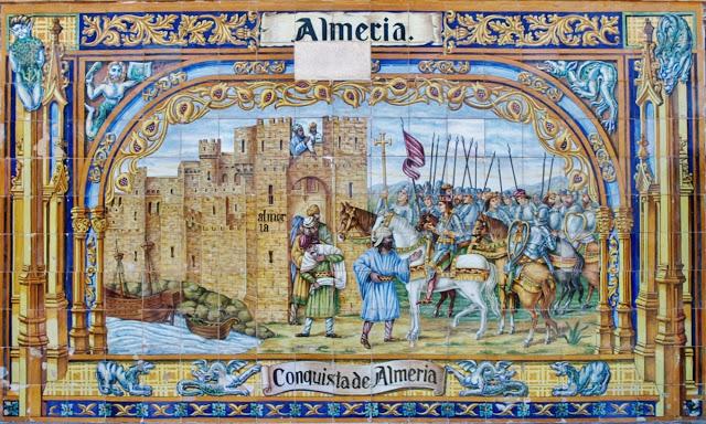 Almería. Plaza de España. Cerámica Triana