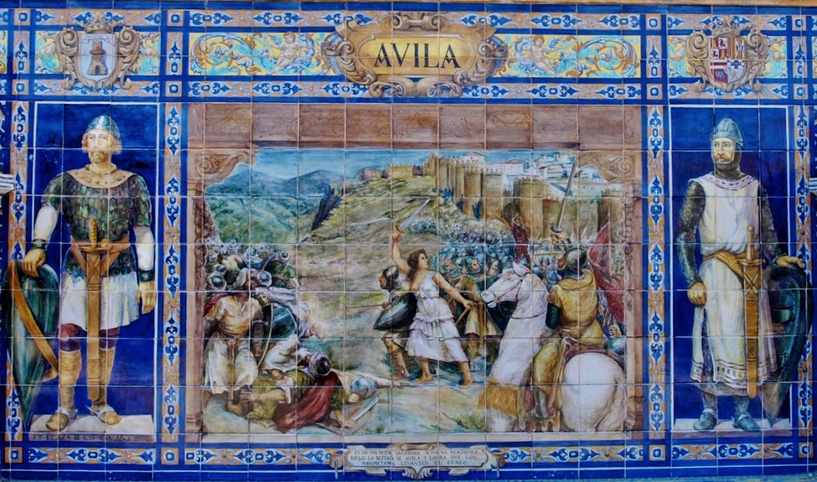 cerámica de Triana plaza de España, Ávila
