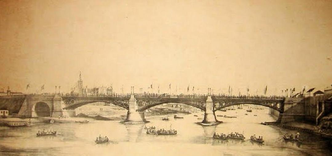 inauguración del puente de Triana