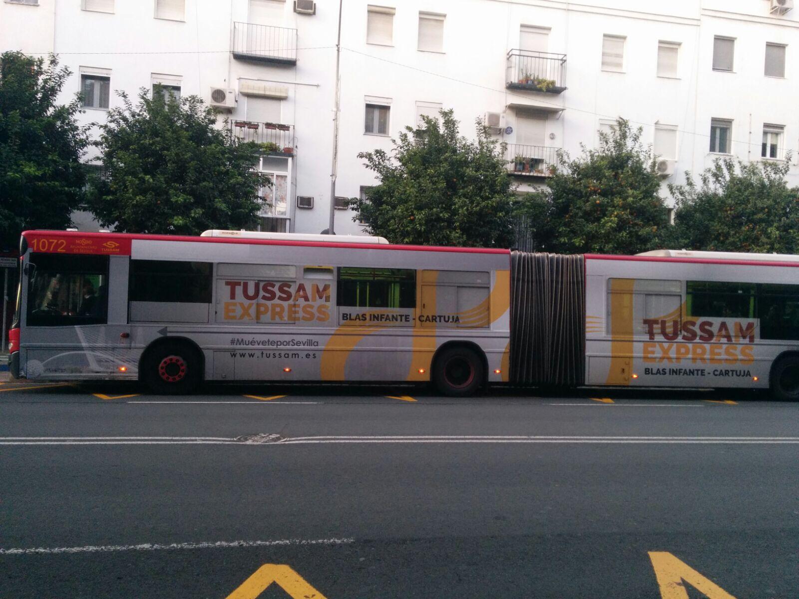 Tussam suspende el servicio de la Lanzadera LC hasta el 8 de enero e ...