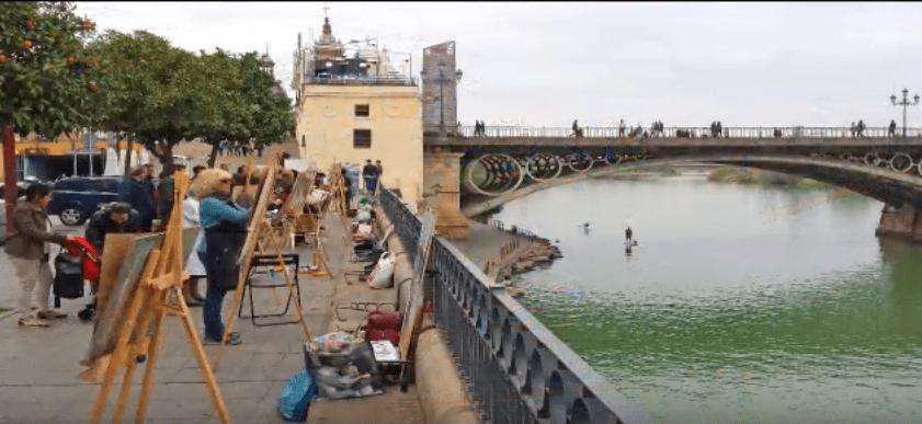 arte al pasar el río
