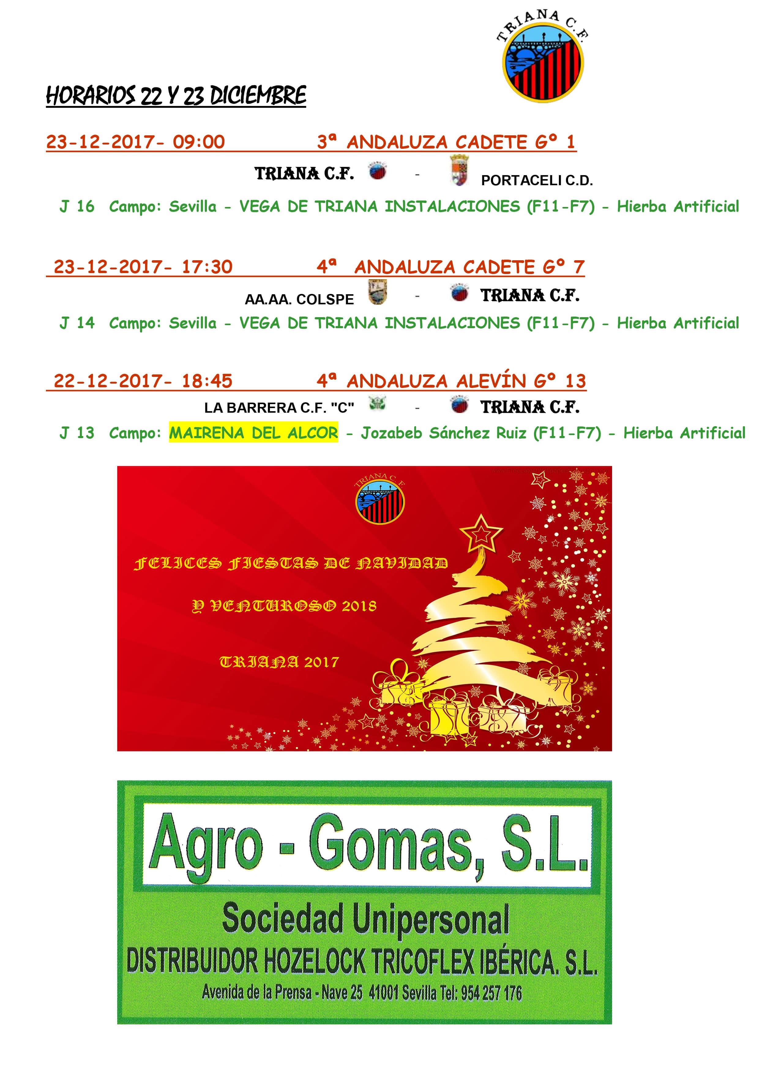Horarios Triana C.F.