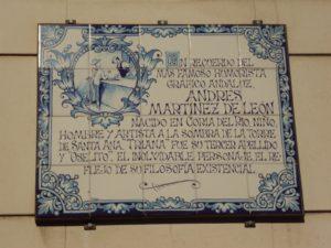 Altozano, azulejo, Ándrés Martínez de León, Triana
