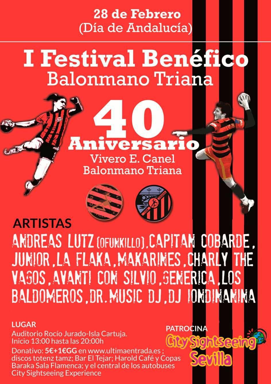 Se aplaza, Cartel festival 40 años Balonmano Triana