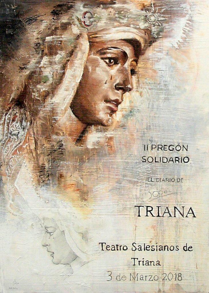Cartel anunciador II pregón Solidario del Diario de Triana
