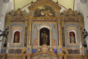 cerámica, Altar Mayor de la parroquia de la Puebla de Cazalla, presidido por Ntra Sra de las Virtudes
