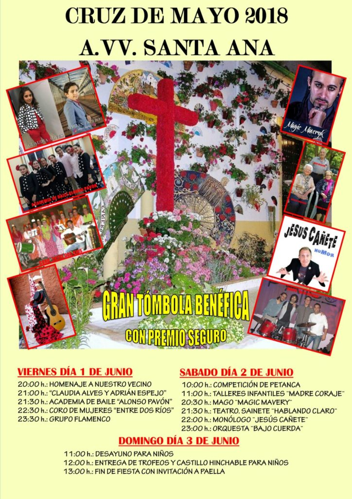 Cruz de Mayo. AAVV Bda Santa Ana 2018