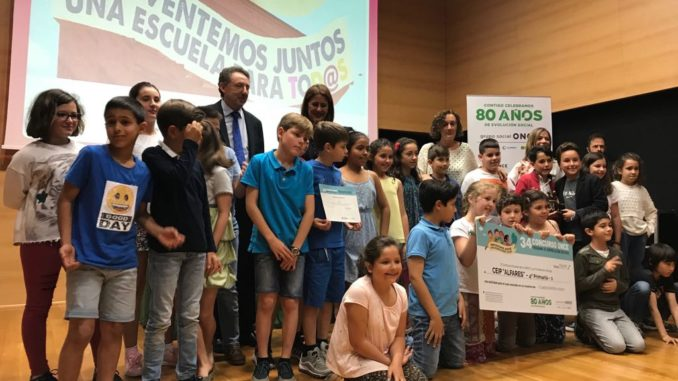 Recogida premio concurso ONCE CEIP Alfares