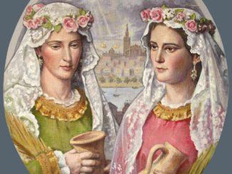 Santas Justa y Rufina. Pintura de José María Méndez. Jaren