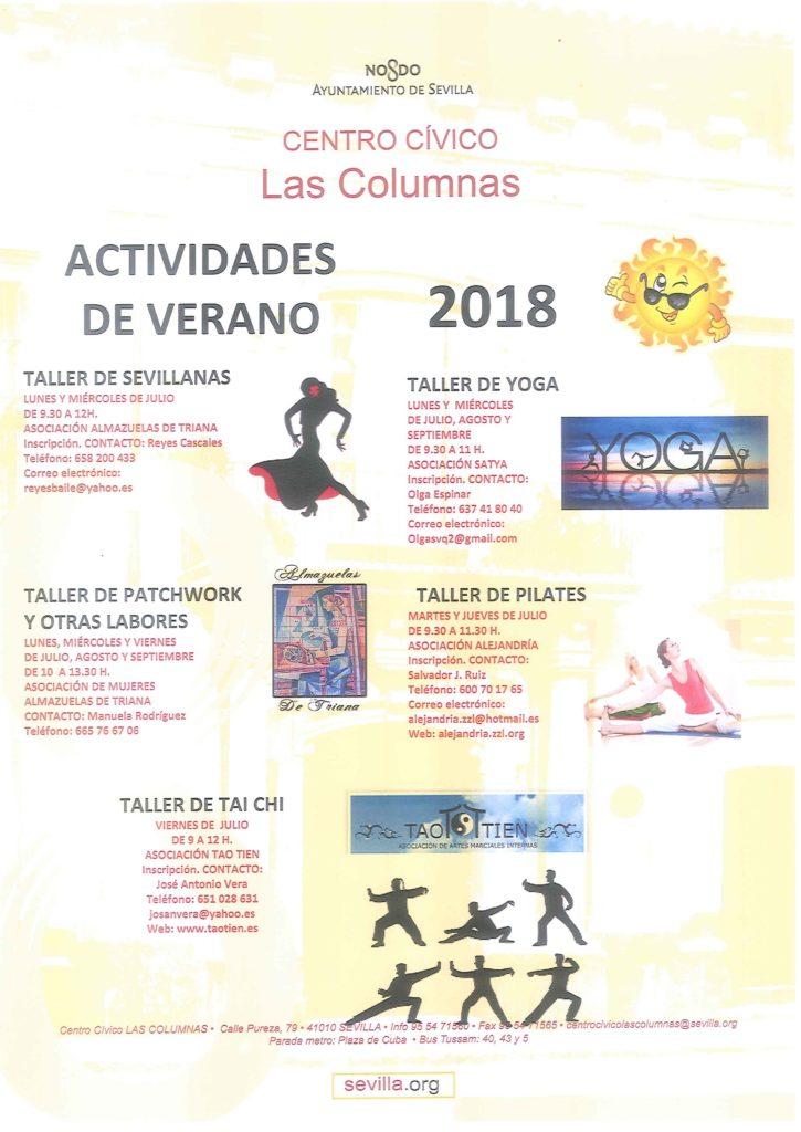 actividaes, verano, Centro cívico Las Columnas, Triana,