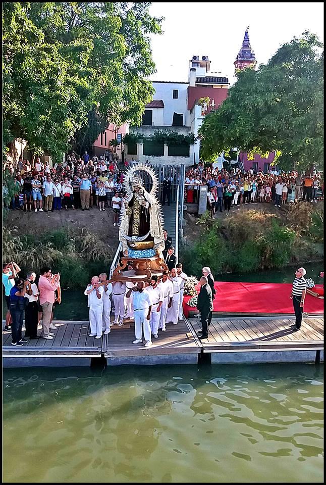 Procesión del Carmen Hdad Puente de Triana, Pantalán
