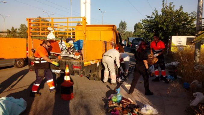 mercadillo, Retirada de basuras, Charco de la Pava, venta ilegal,