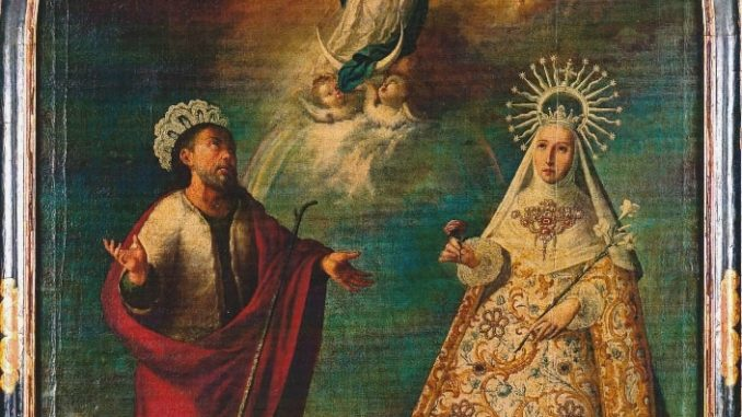 San Joaquín y Santa Ana con la Inmaculada