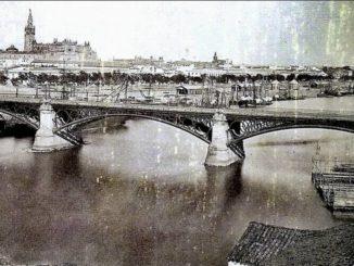 inauguración Puente de Isabel II , Puente de Triana,