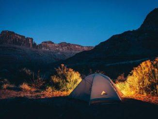 camping, descansar,
