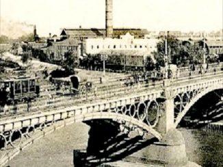 Vista desde Triana, central Compañía Sevillana de Electricidad