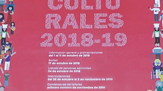 Cartel Talleres Distrito Triana 2018-19