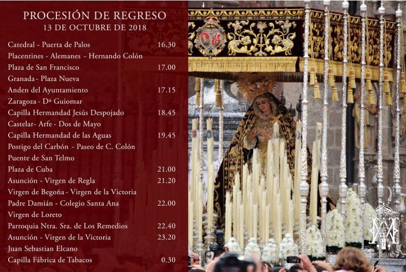 Virgen de la Victoria, regreso