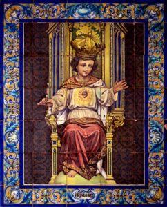 Retablo cerámico Cristo Rey Niño