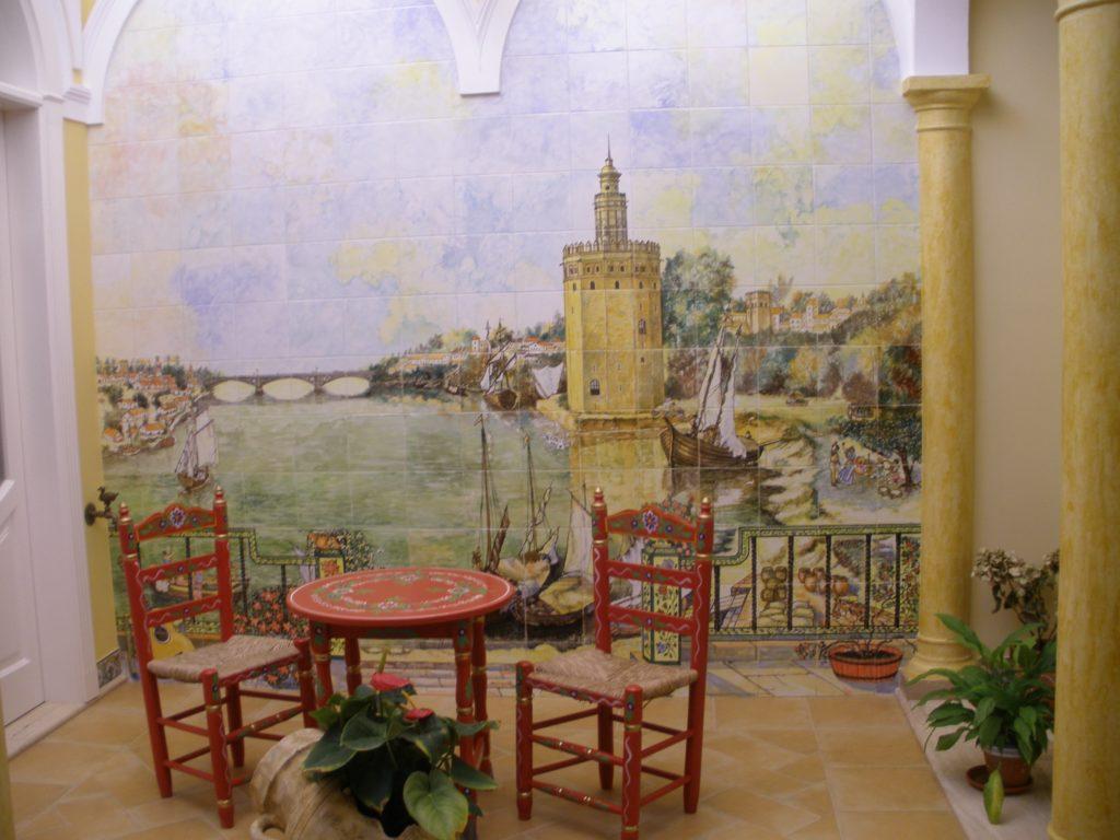 patio sevillano, cerámica, Triana