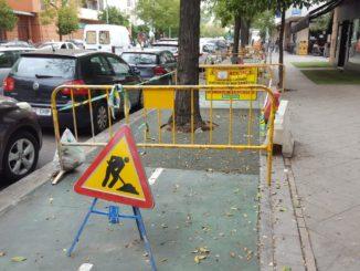 Obras carril bici. Ronda de Triana