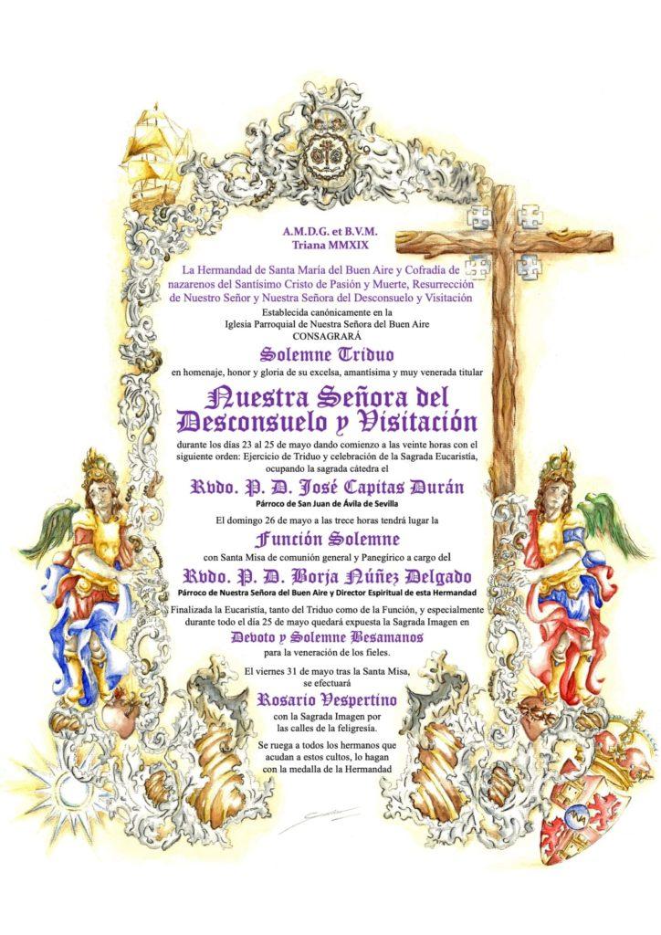 Cultos 2019 Virgen del Desconsuelo