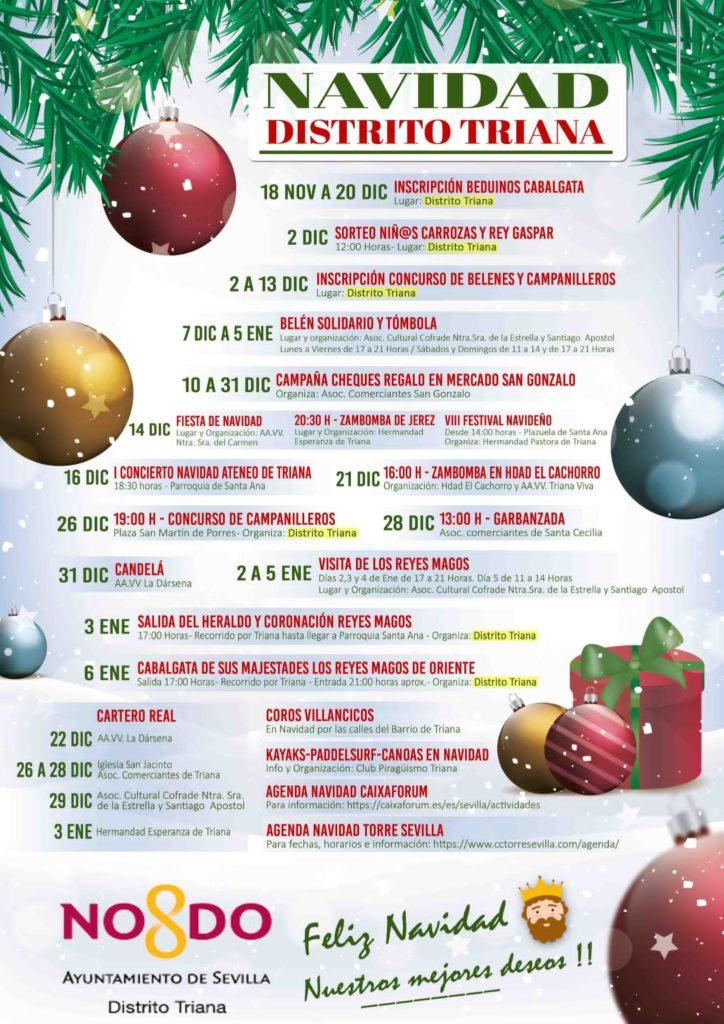 Agenda actividades, Navidad Distrito Triana