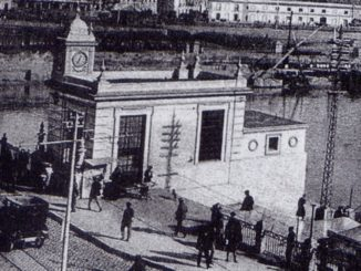 estación fluvial, escalera, Triana,